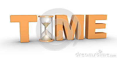 stock illustration time passes word hourglass included letters image