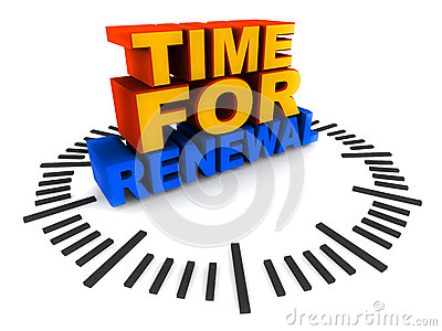 Time for renewal