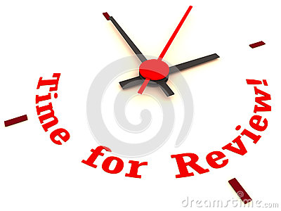 Time for review clock
