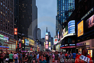 Time square Editorial Stock Image