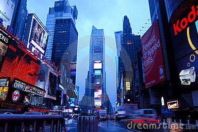 Time Square Editorial Stock Photo