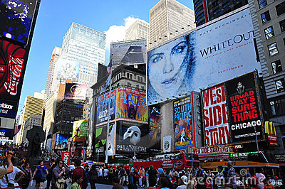 Time Square Billboards Editorial Image