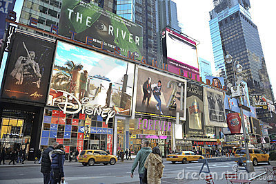 Time Square In new York city Editorial Photo