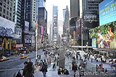 Time Square In new York city Editorial Photography