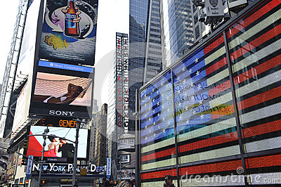 Time Square, new York city Editorial Stock Photo