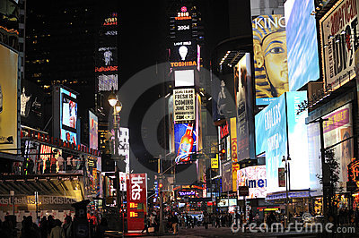 Time Square at  night Editorial Photo