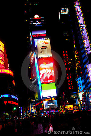 Time Square NYC Editorial Stock Photo