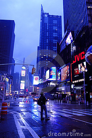 Time Square after storm Editorial Image