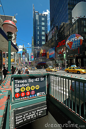 Time square subway Editorial Stock Image