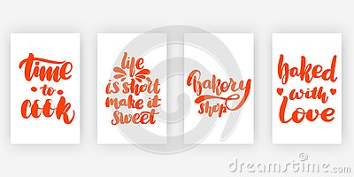 Time to cook. Life is Vector Illustration