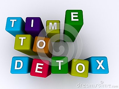 Time to detox sign Stock Photo