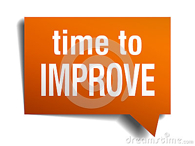 time to improve orange speech bubble Vector Illustration