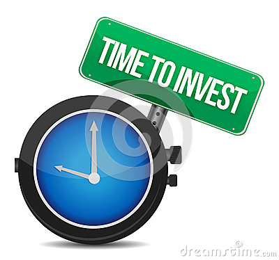 Time to invest concept illustration design