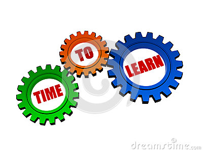 Time to learn in color gears