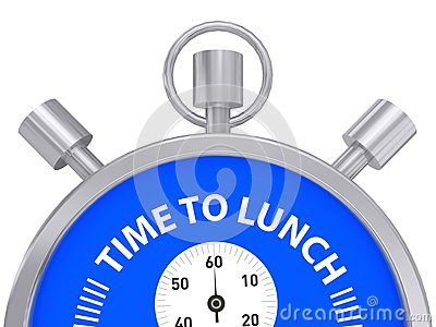 Time to lunch Stock Photo