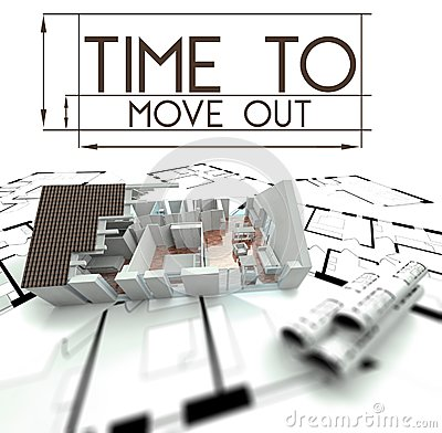 Time to move out with project of house royalty free stock When is the best time to move house