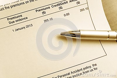 Paying insurance premium bill