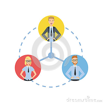 Time And Tusk Sharing Teamwork Illustration Vector Illustration