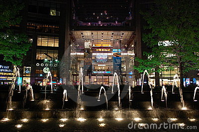 Time Warner Center at night Editorial Photography