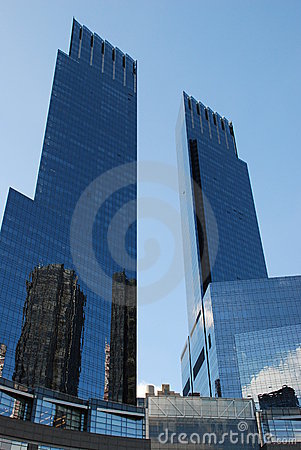 Time Warner Center Towers Editorial Stock Photo
