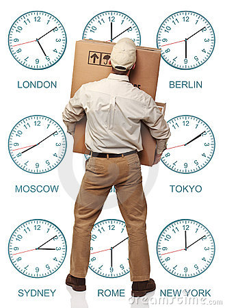 Time zone delivery