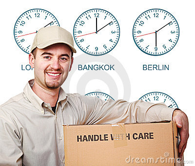 Time zone delivery man