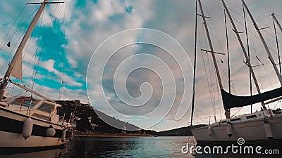 Timelapse της θάλασσας, των βαρκών και των νησιών Tisno, Κροατία φιλμ μικρού μήκους