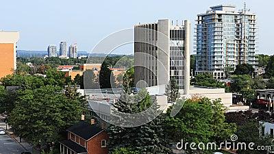 Timelapse του στο κέντρο της πόλης Μπέρλινγκτον, Καναδάς 4K απόθεμα βίντεο