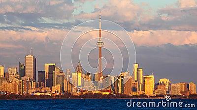 Timelapse του στο κέντρο της πόλης Μπέρλινγκτον, Καναδάς 4K φιλμ μικρού μήκους