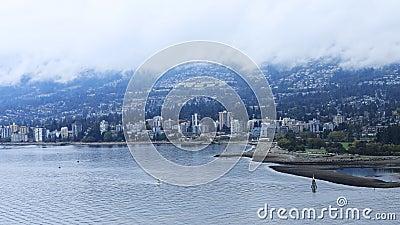 Timelapse av norr Vancouver, Kanada 4K lager videofilmer