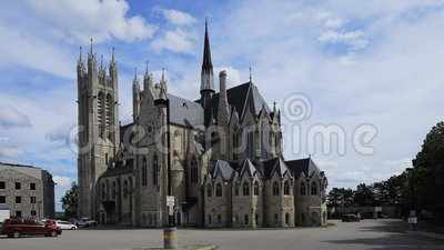 Timelapse of Basilica of Our Lady Immaculate, Guelph, Canada 4K. A Timelapse of Basilica of Our Lady Immaculate, Guelph, Canada 4K stock video