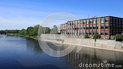 Timelapse Cambridge, Kanada scena przy Uroczystą rzeką 4K zdjęcie wideo