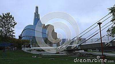 Timelapse Canadian Museum for Human Rights, Winnipeg 4K zdjęcie wideo