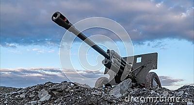 timelapse de canon de la guerre mondiale d'Union Soviétique de 76mm 2 banque de vidéos