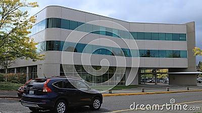 Timelapse de centre municipal dans Gresham Orégon 4K banque de vidéos