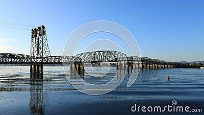 Timelapse der Brücke Vancouver, Washington nach Portland, Oregon 4K stock footage