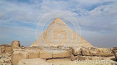 Timelapse der großen Pyramiden im Gizatal, Kairo, Ägypten stock footage