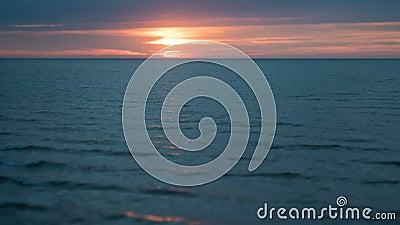 Timelapse do por do sol do verão do mar Báltico video estoque