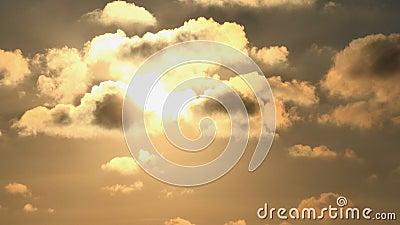 Timelapse Dramatyczny zmierzch z chmurami na niebie, Chmurny położenie półmrok, time lapse zbiory wideo