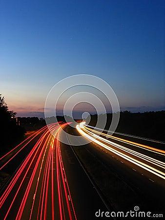 Timelapse of motorway 3