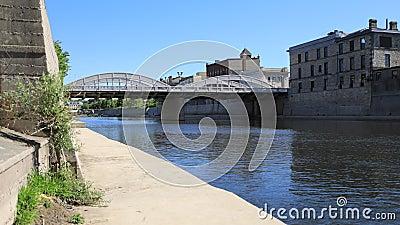 Timelapse opinión de Cambridge, Canadá en el río magnífico 4K metrajes