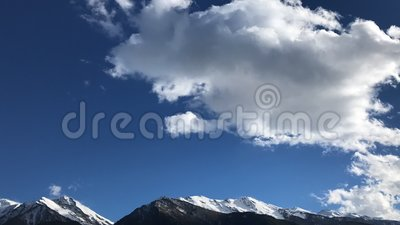Timelapse over mountains stock video footage