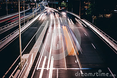 Timelapse Photo Of Vehicles In Road During Night Time Free Public Domain Cc0 Image