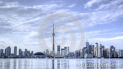 Timelapse Toronto horisont HDR lager videofilmer