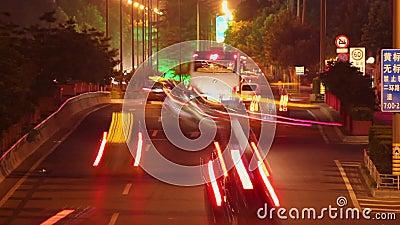 Timelapse uliczna scena przy nocą, xi. «, Shaanxi, Chiny zbiory