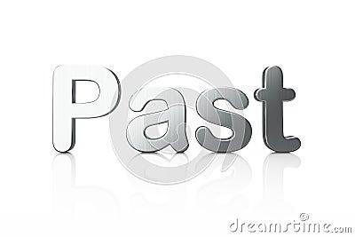 Timeline concept: 3d word Past