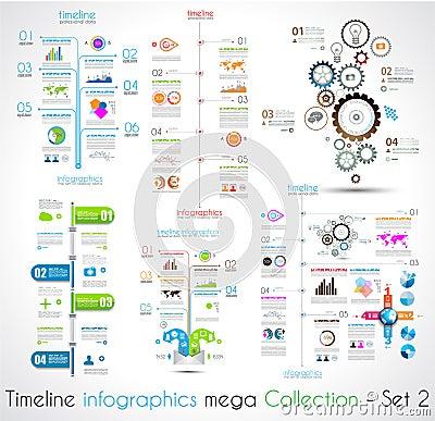 Free Timeline Infographic Design Templates Set 2. Stock Photo - 39996910