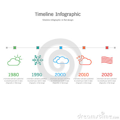 Timeline Infographic In Flat Design Stock Vector - Image ...