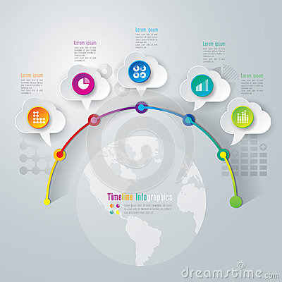 Free Timeline Infographics Design Template. Royalty Free Stock Photography - 38191357