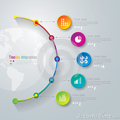 Free Timeline Infographics Design Template. Royalty Free Stock Images - 38191409